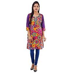 Kaash Women 's Straight Kurta_VRMTE08_M_Purple
