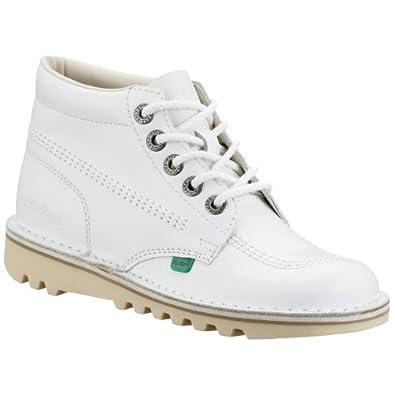 kickers womens kick hi white boots eu39 white