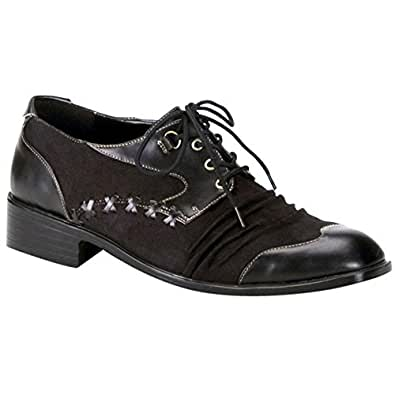 Adult's Men Black Mad Hatter Shoes (Small 8-9)