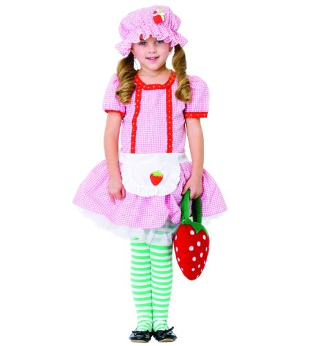 Country Girl Strawberry Kids Costume - Size: Medium