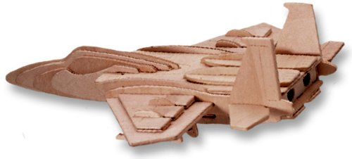 3-D Wooden Puzzle - Fighter Plane Model F-15 -Affordable Gift for your Little One! Item #DCHI-WPZ-P044