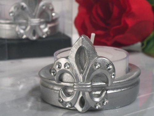 Fleur De Lis Candle Holder Favors