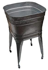 Wash Tub With Stand : Square Wash Tub with stand and drain - - Amazon.com
