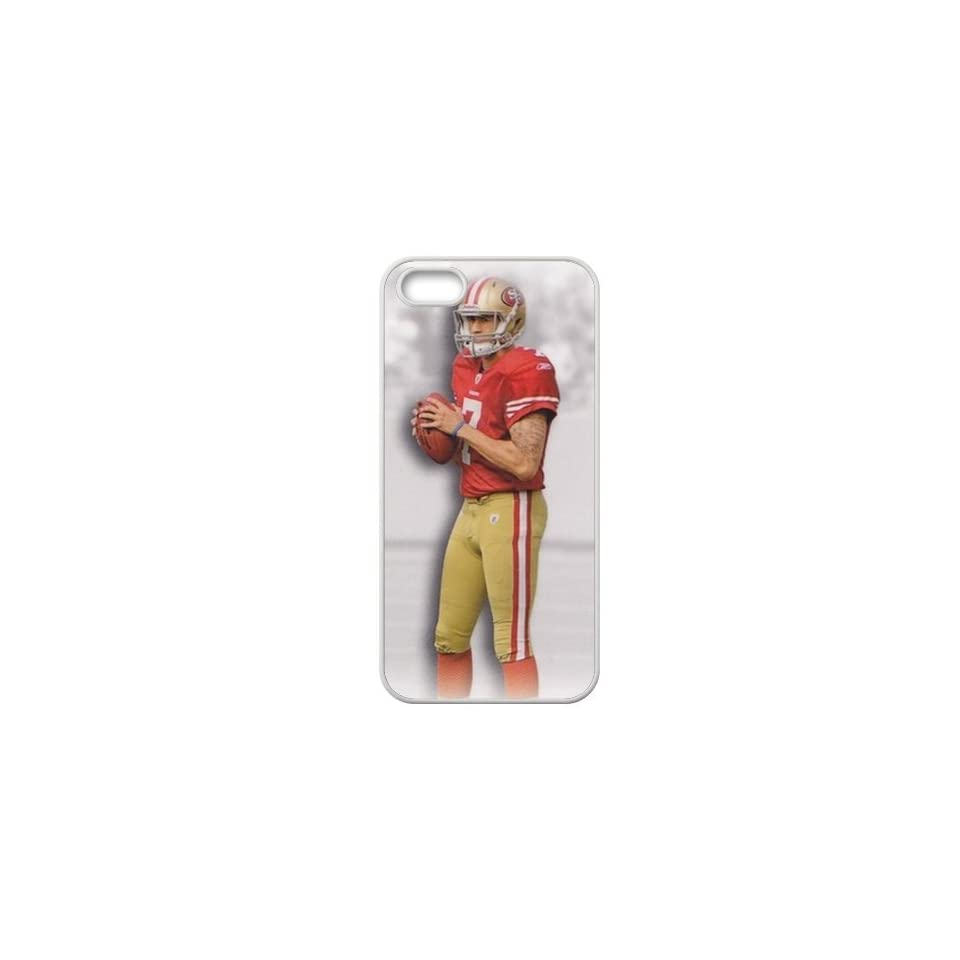FashionCaseOutlet NFL San Francisco 49ers Colin Kaepernick Accessories Apple Iphone 5 Waterproof TPU Back Cases Cell Phones & Accessories