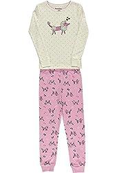 Hartstrings Little Girls Long Sleeved Poodle Print Pajama Set