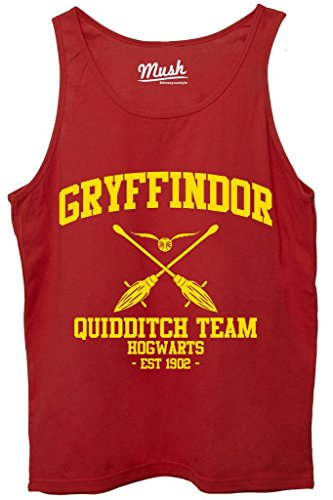 Canotta GRYFFINDOR QUIDDITCH HARRY POTTER - FILM by Mush Dress Your Style - Donna-XL-Rossa