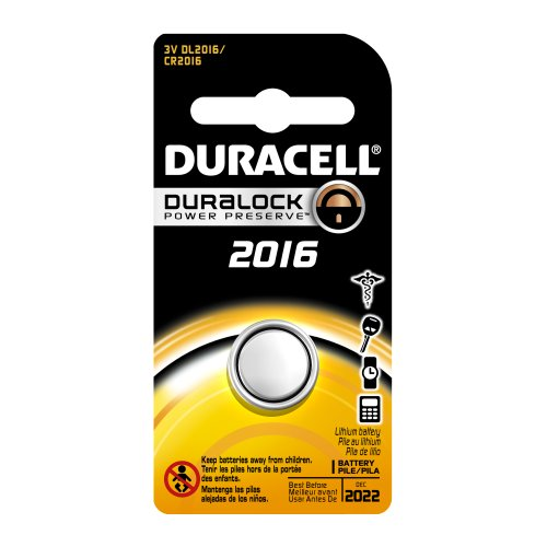 Duracell Dl2016Bpk Lithium Coin Battery, 2016 Size, 3V, 85 Mah Capacity (Case Of 6)