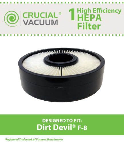 Dirt Devil F8 HEPA Filter; Compare to Dirt Devil Part # 3UD0280001, 3-UD0280-001, F-8, F8; Designed & Engineered by Crucial Vacuum (8 Hepa Filter compare prices)