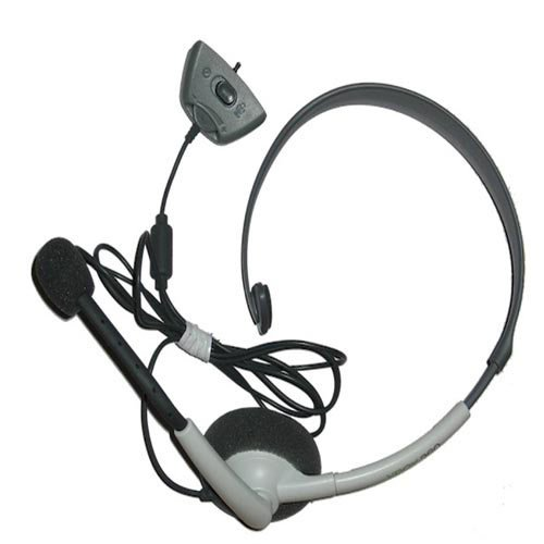 Official Microsoft Wired Headset For Xbox 360, White, Model# Nxx360-116 Bulk