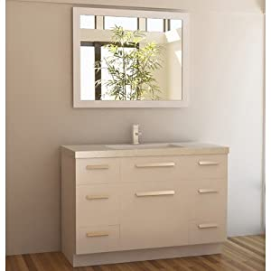 Design Element J48-DS-W Moscony 48-Inch Single Sink Vanity Set, White