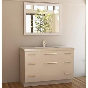 Design Element J48-DS-W Moscony 48-Inch Single Sink Vanity Set, White