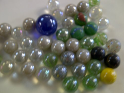 "MARBLES: ""Game On"" Marble Set, Multi-Color Stones. Marble Set Includes Shooter and 80 Marbles. Ages 5 and Up. - 1"