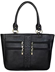 MOOI-ZAK Trendy & Stylish Black Shoulder Bag (H_4ZIP_BLK)