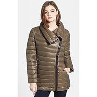 カルバンクライン Calvin Klein Lightweight Asymmetric Down Jacket (Online Only) TRUFFLE 女性 レディース コート ジャケット 並行輸入