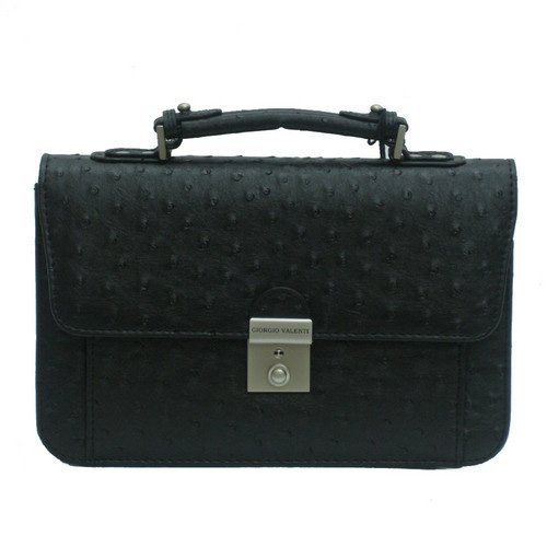 GIORGIO VALENTI[ジョルジオ・バレンチ] セカンドバッグ メンズ 紳士 オースト型押し ブラック