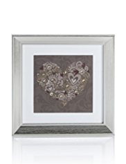 Button Heart Frame Wall Art