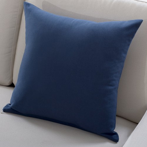 "Polyester Solid Square Throw Pillow - 16"" X 16"", Navy"