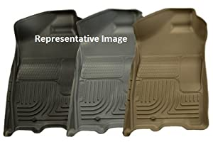 BLACK FRONT FLOOR LINERS - 2002-2007 Jeep Liberty CLASSIC STYLE SERIES