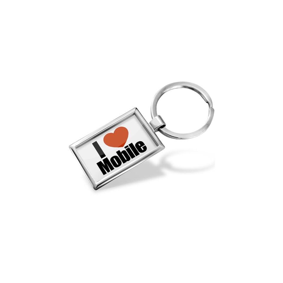 Keychain I Love mobile region Alabama, United States   Hand Made, Key chain ring