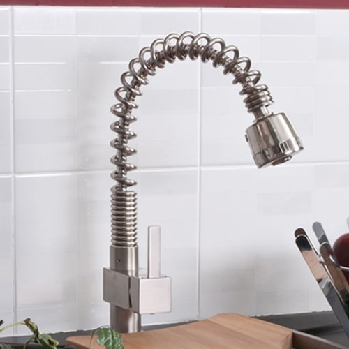 Martin Bathroom Taps - Brushed Steel Kitchen Sink Mixer