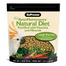 Image of ZuPreem AvianMaintenance Natural Premium Bird Diet for Large Parrots (3-lb resealable pouch) (B0000AH3NM)