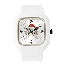 buy White Fashion Sport Watch Simply Pirates Skull & Crossbones