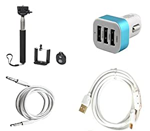 High Quality Selfie Stick , 5V/2.1 A Tripple (3) Jack USB Car Charger , Fast ...