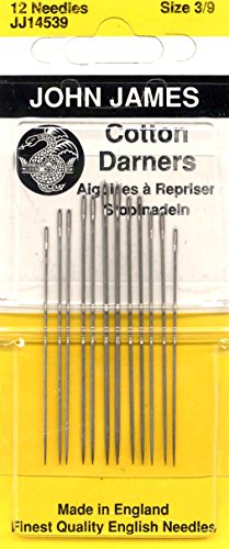 Cotton Darners Hand Needles-Size 3/9 12/Pkg