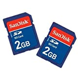 SanDisk 2 GB SD Flash Memory Card 2-Pack SDSDB2-2048-A11