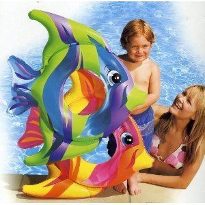 Intex Tropical Fish Inflatable Swim Ring (Yellow, Orange and Pink) by wet set