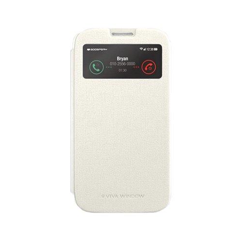 Galaxy S4 ケース Mercury Goospery Viva View Case ギャラクシー S4 ビュー フリップ ケース ホワイト(White) / SC-04E 携帯 スマホ スマートフォン モバイル ケース カバー カード 収納 ポケット スロット