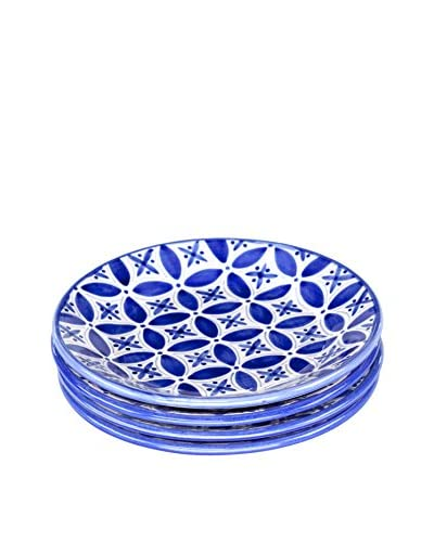 Sobremesa Set of 4 Fez Dinner Plates, Blue