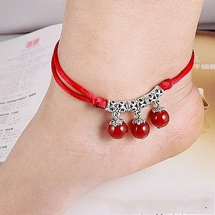 Tibetan Silver Sterling Silver Bangle Anklet Chain Bracelet Jewellery Quality Style NO.10424
