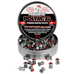 Predator Polymag .25 Cal 26 Grains Pointed 150Ct