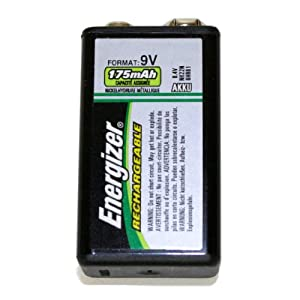 Energizer 00916 - 9 volt Nickel Metal Hydride Rechargeable Battery (NH22NBP)