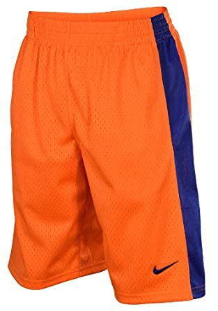 Nike Mens Mesh Athletic Work Out Training Shorts-Orange Royal by Nike