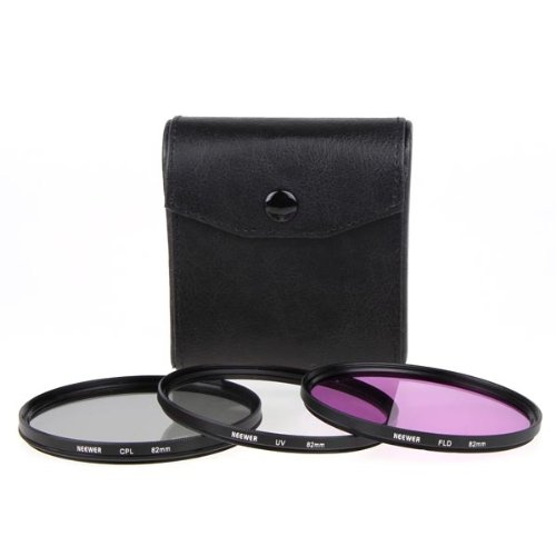 NEEWER 82mm 3-Piece UV/FLD/CPL Filter Kit For SLR Camera Lens