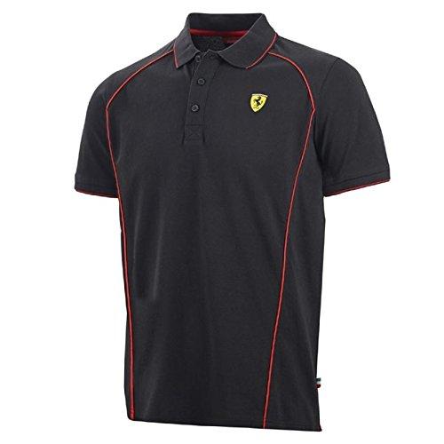 Ferrari F1Polo da uomo, Uomo, Polo, nero, XXL