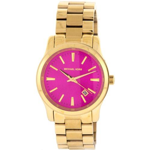 Michael Kors Golden Runway Pink Dial Gold-Tone Ladies Watch Mk5801