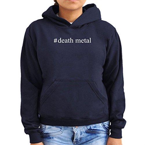 Felpe con cappuccio da donna #Death Metal Hashtag