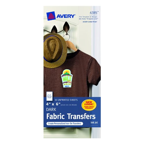 Avery T-shirt Transfers for Inkjet Printers, 4 x 6-Inches, Pack of 10 (4385)