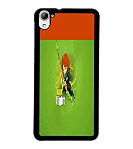 PrintDhaba Girl Fight D-5639 Back Case Cover for HTC DESIRE 826 (Multi-Coloured)