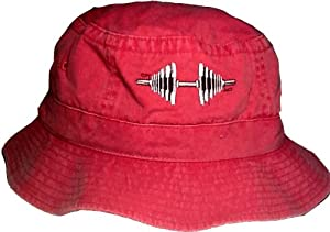 Red Barbell Bucket Style Hat (Red)