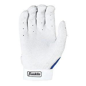 Guante para Batear Franklin Sports Adult MLB Pro Classic, Large para adulto, par de guates, color azul, perla