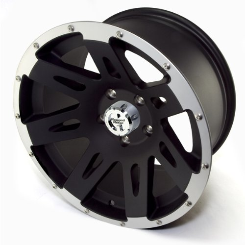 Red Ridge Aluminum Black Satin with Machined Lip - 17 x 9 Inch Wheel