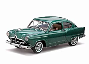 1951 Kaiser Henry J Platinum Diecast Car Model With Trunk Green Platinum Edition 1:18
