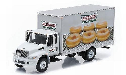 international-durastar-box-van-krispy-kreme-doughnuts-model-car-ready-made-greenlight-164-by-interna