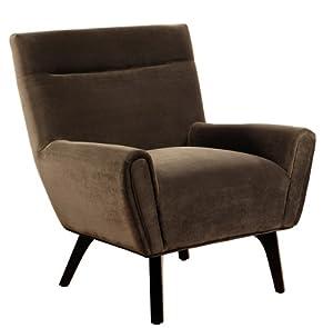 Abbyson Living Marquis Dark Brown Microsuede Armchair