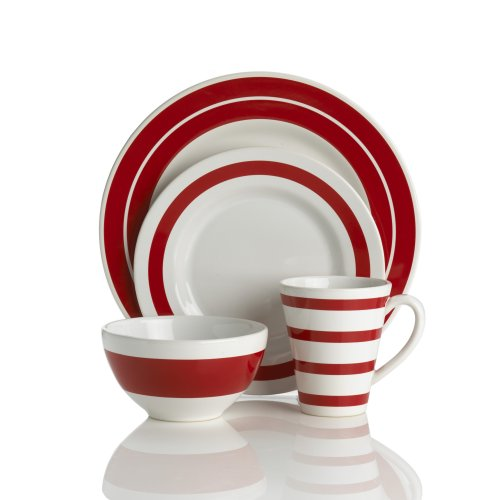 Buy Nautica J-Class Red 4-Piece Place Setting, Service for 1