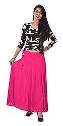Ace Long Skirt-Rani pink